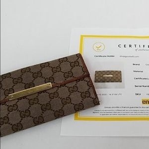 Authentic Gucci GG Monogram Wallet w/ COA